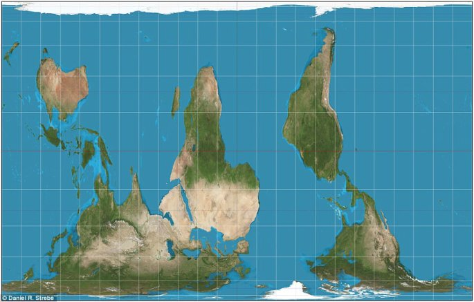peters projection south